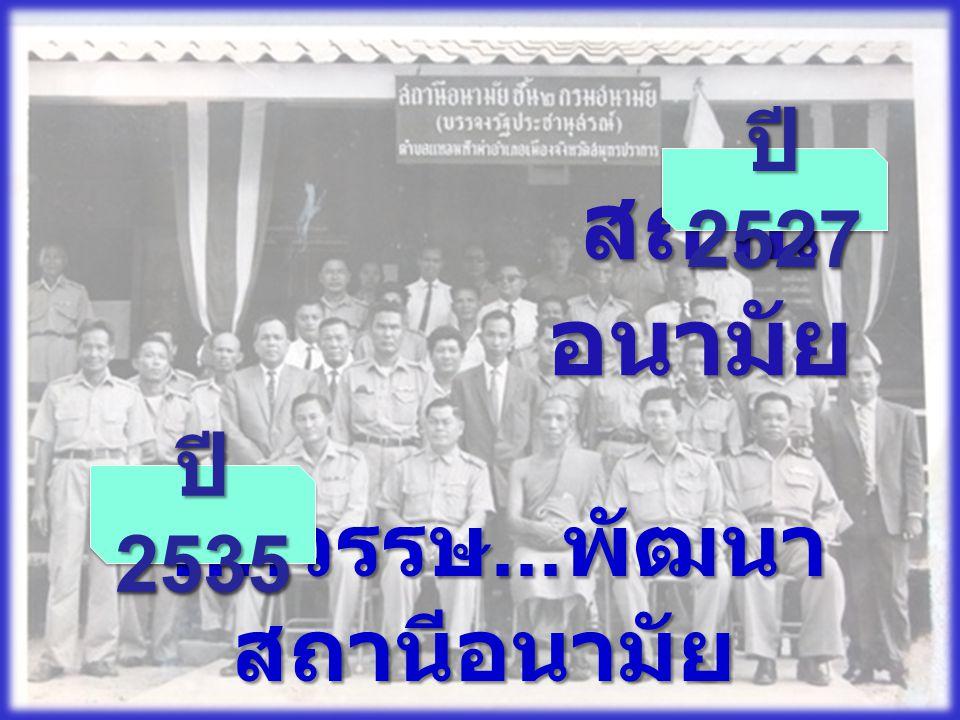 สถานี อนามัย ทศวรรษ... พัฒนา สถานีอนามัย ทศวรรษ... พัฒนา สถานีอนามัย ปี 2527 ปี 2535