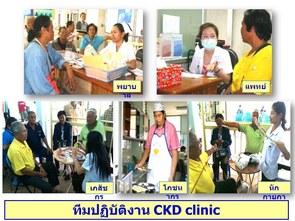 พยาบ าล แพทย์ เภสัช กร โภชน ากร นัก กายภา พ ทีมปฏิบัติงาน CKD clinic