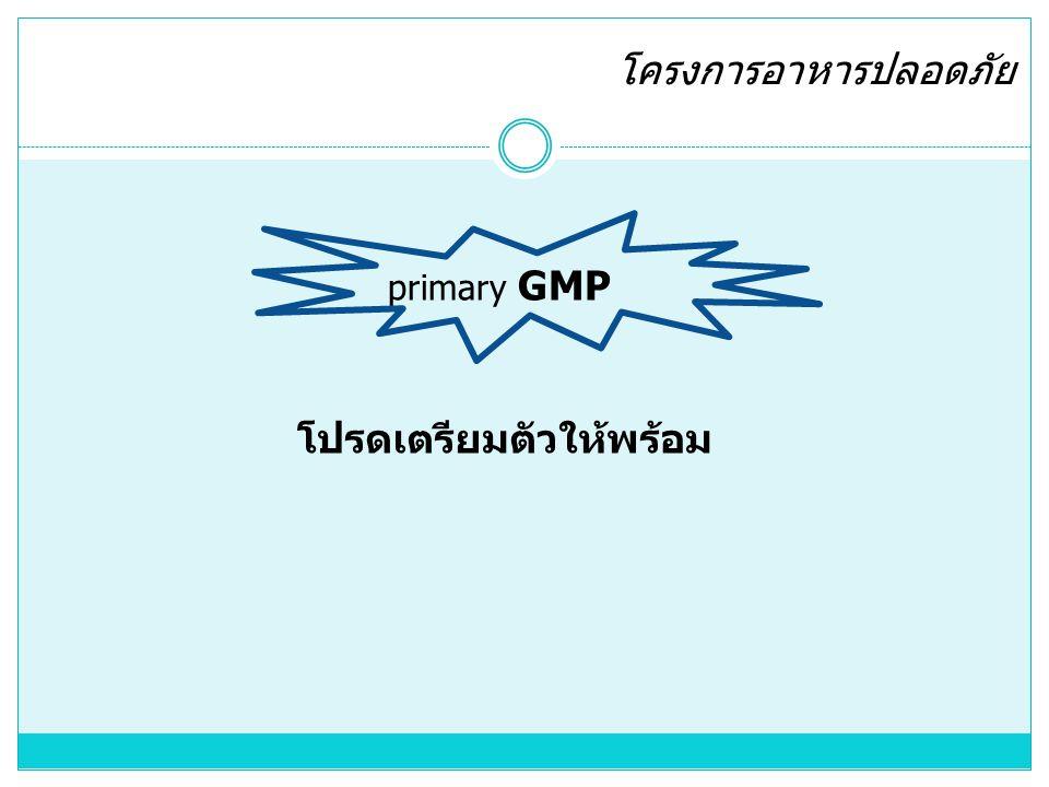 โครงการอาหารปลอดภัย primary GMP โปรดเตรียมตัวให้พร้อม