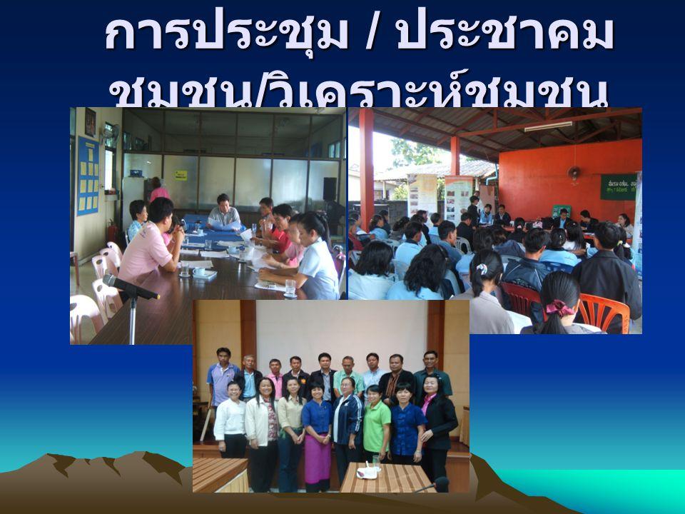 การประชุม / ประชาคม ชุมชน / วิเคราะห์ชุมชน