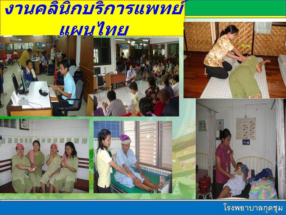 งานคลินิกบริการแพทย์ แผนไทย