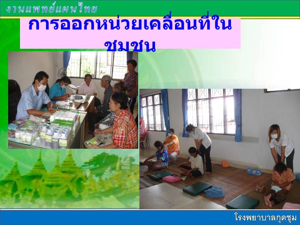 การออกหน่วยเคลื่อนที่ใน ชุมชน