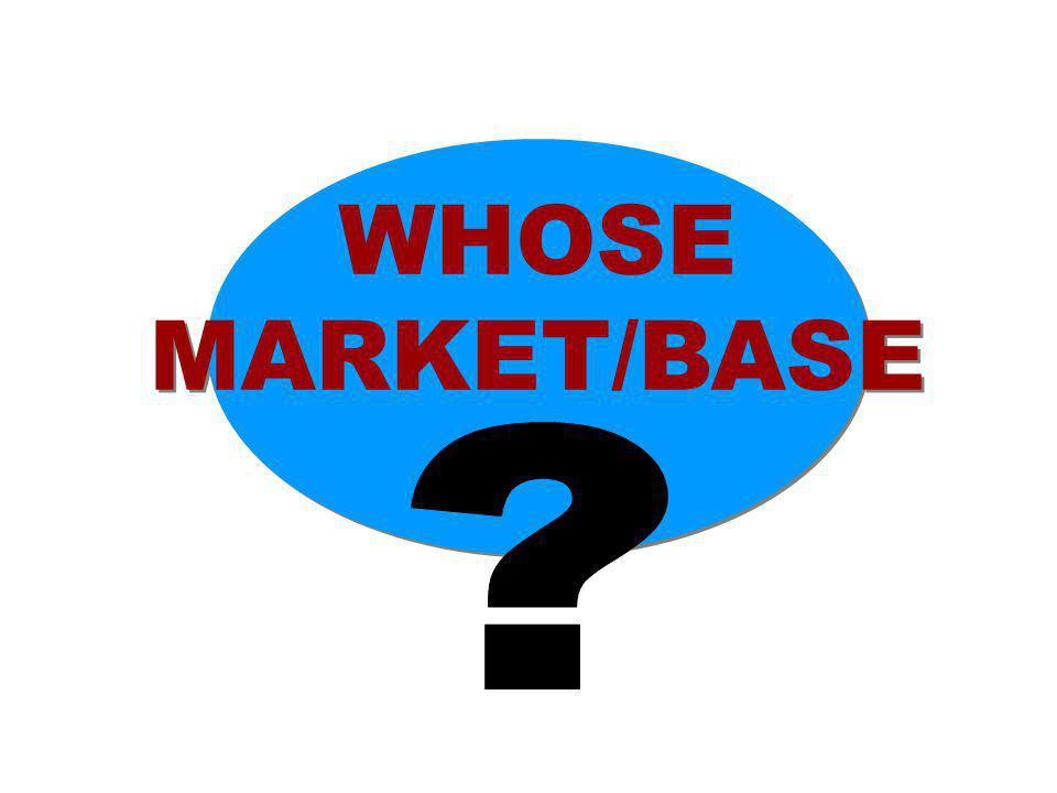 WHOSE MARKET/BASE WHOSE MARKET/BASE