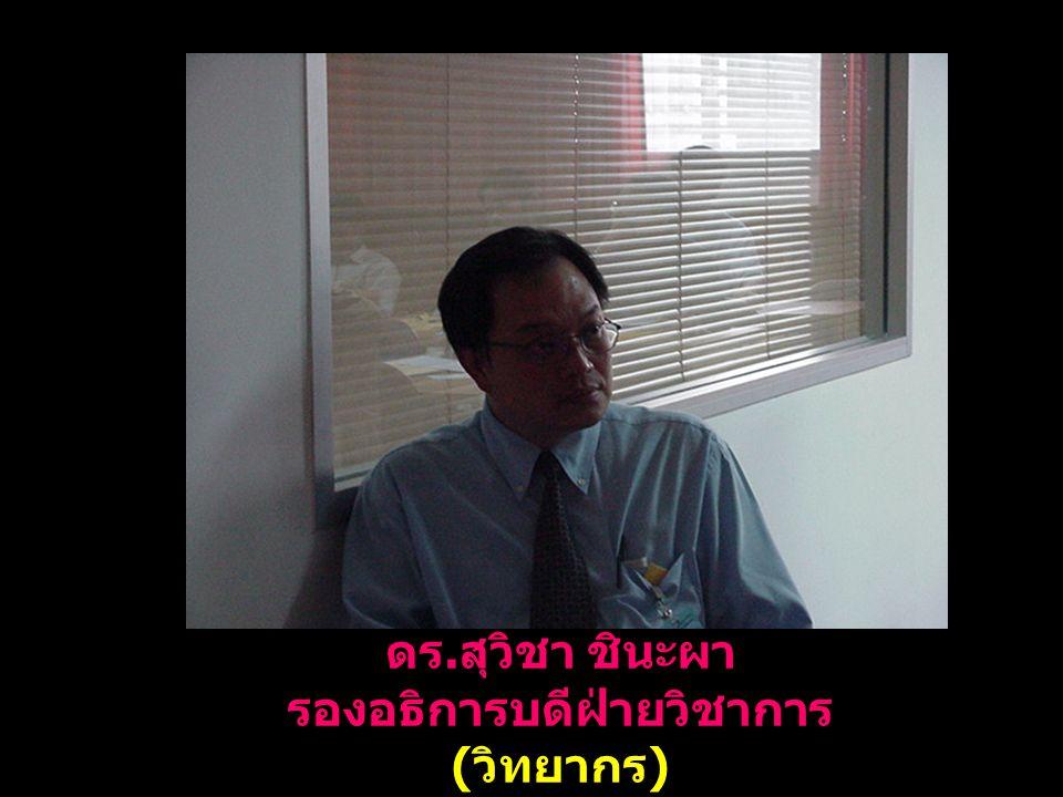 ดร. สุวิชา ชินะผา รองอธิการบดีฝ่ายวิชาการ ( วิทยากร )