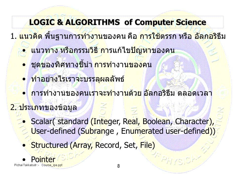 Pichai Takkabutr :- Course_ipe.ppt 59 5.แนวทางพัฒนาองค์ความรู้ 1.พัฒนาหลักสูตรปริญญาบัณฑิตวิชาชีพครู เป้าหมายเพื่อเน้นหลักสูตรเพื่อ บริหารจัดการ จรรยาบรรณ และแก่นพุทธศาสนา 2.พัฒนาหลักสูตรเทคโนโลยีการกีฬา เป้าหมายประยุกต์ใช้และพัฒนาเทคโนโลยี Material Tech, Bio-Tech, ICT TECH (Micro, Nano) เข้ากับหลักสูตร สถาบันการพลศึกษา Multi-disciplinary