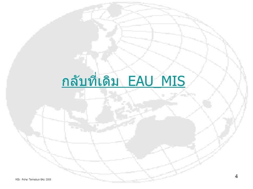 MIS: Pichai Takkabutr EAU 2005 4 กลับที่เดิม EAU_MIS