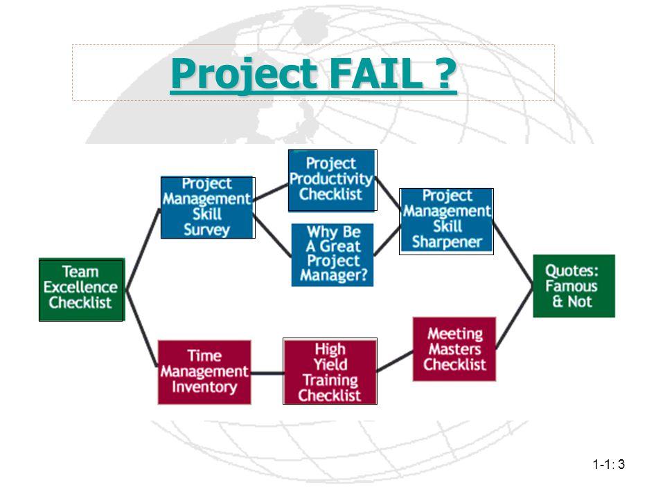1-1: 3 Project FAIL ? Project FAIL ?