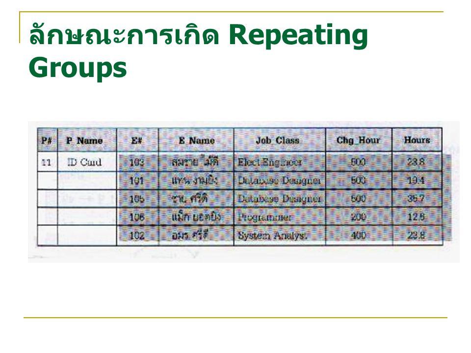 ลักษณะการเกิด Repeating Groups