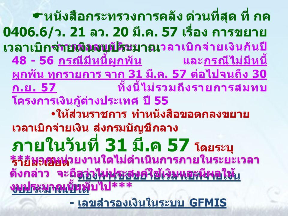 สำนักงานคลังจังหวัด อุทัยธานี ได้แจ้งเวียนส่วน ราชการทราบทางเว็บไซต์ http://klang.cgd.go.th หัวข้อ หนังสือเวียน