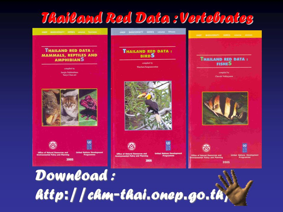 Download : http://chm-thai.onep.go.th/ Thailand Red Data : Vertebrates