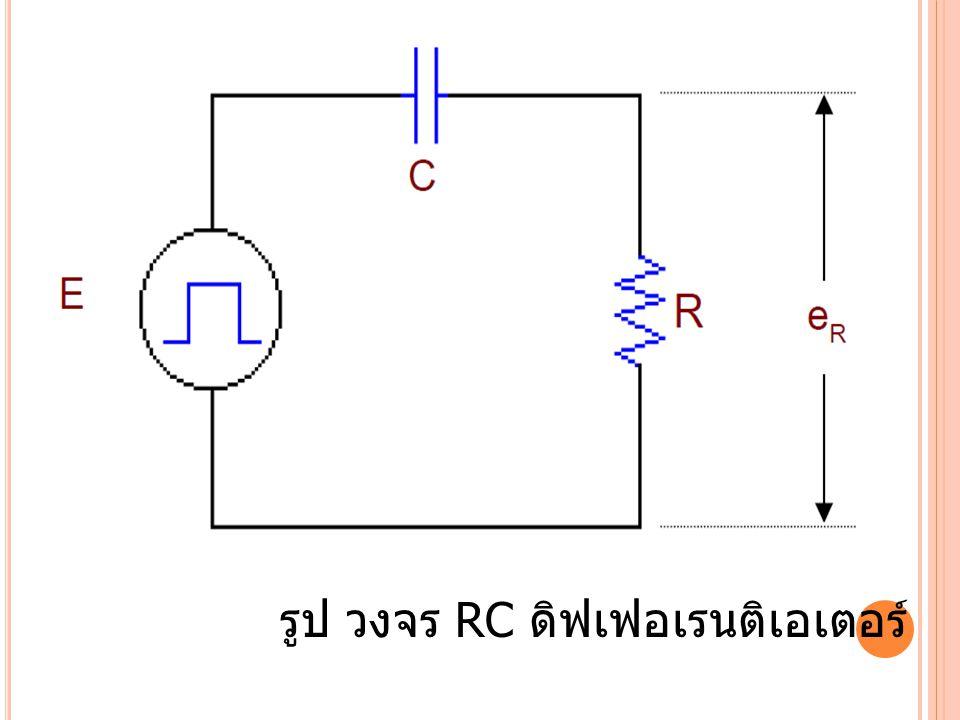 รูป วงจร RC ดิฟเฟอเรนติเอเตอร์