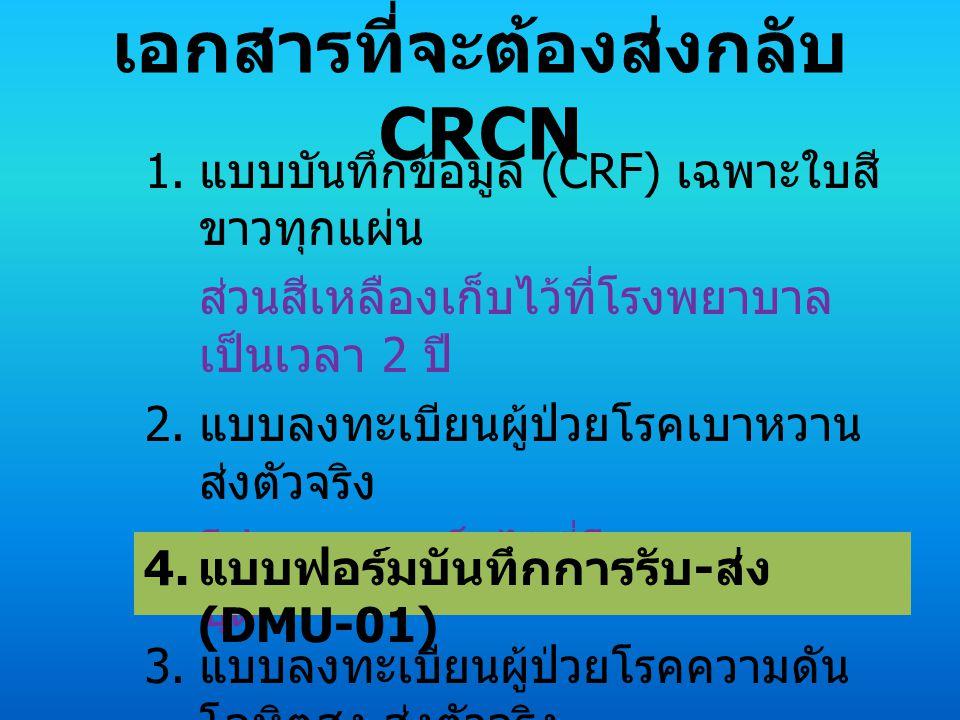 เอกสารที่จะต้องส่งกลับ CRCN 1.