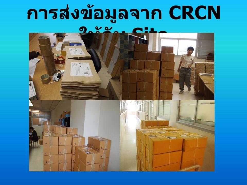 การส่งข้อมูลจาก CRCN ให้กับ Site