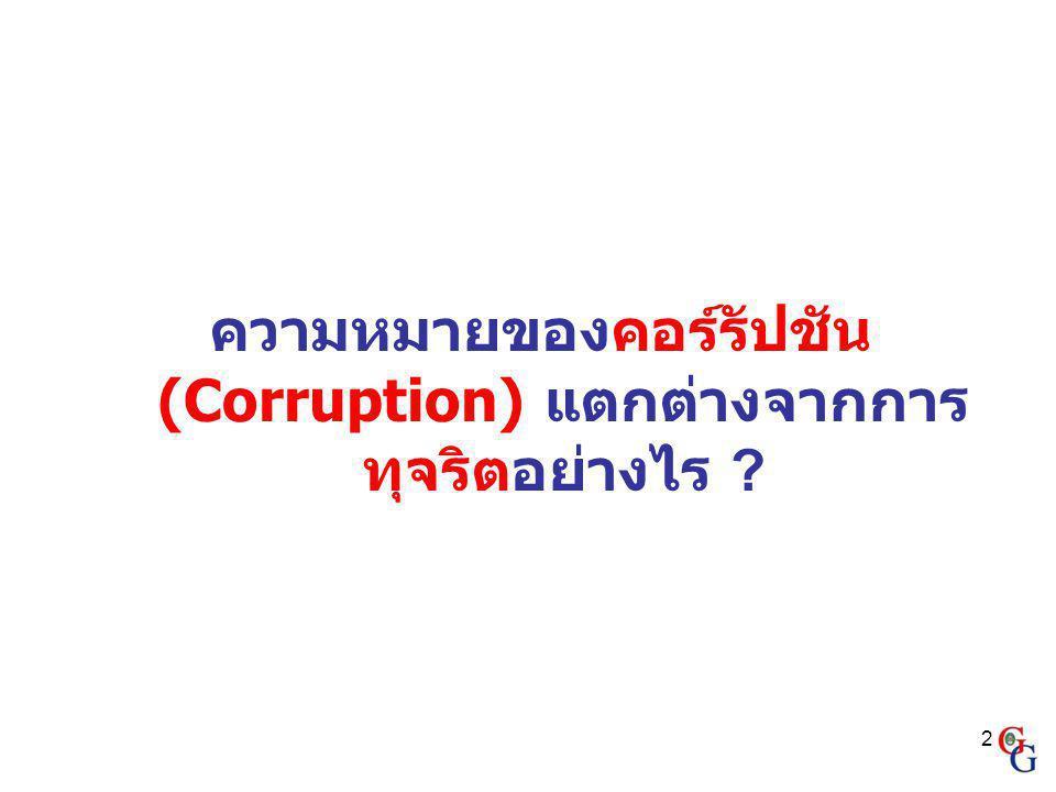 2 ความหมายของคอร์รัปชัน (Corruption) แตกต่างจากการ ทุจริตอย่างไร ?