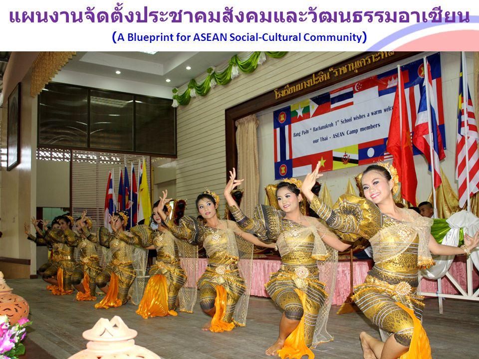 แผนงานจัดตั้งประชาคมสังคมและวัฒนธรรมอาเซียน (A Blueprint for ASEAN Social-Cultural Community)