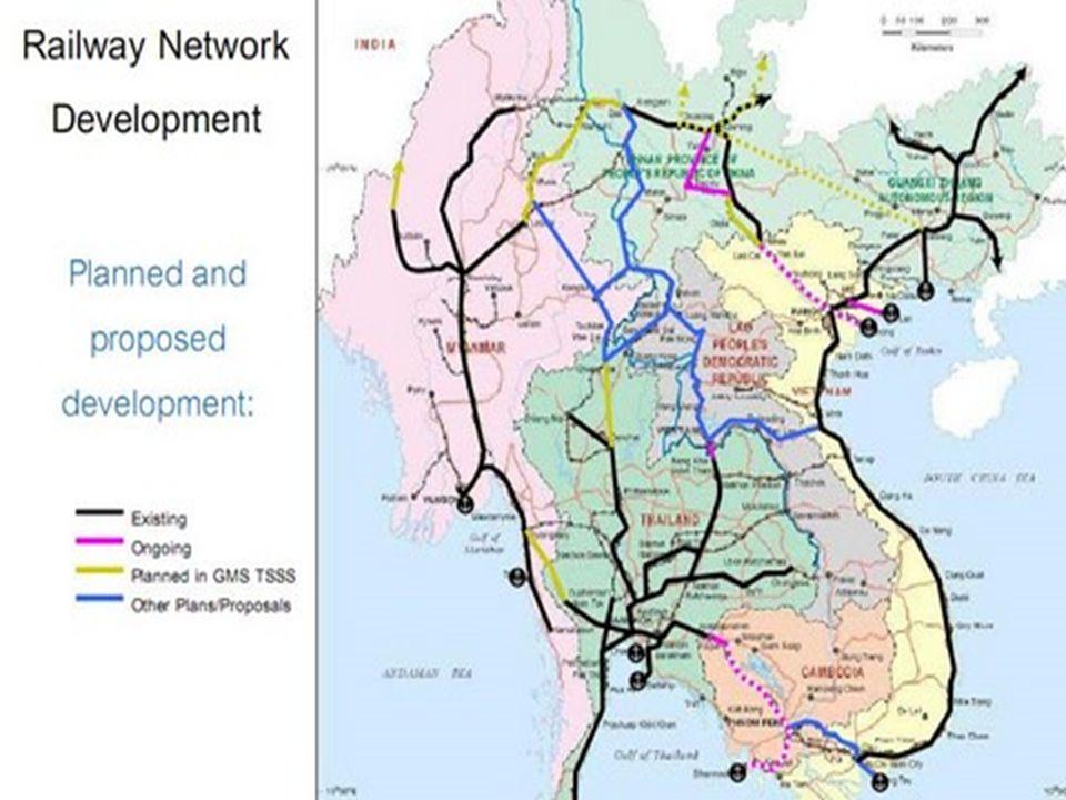 แผนที่เส้นทาง ไฮสปีดเทรน คุนหมิง-สิงคโปร์
