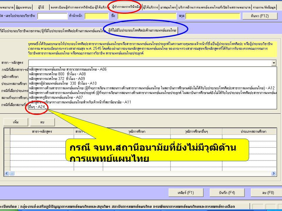 กรณี จนท. สถานีอนามัยที่ยังไม่มีวุฒิด้าน การแพทย์แผนไทย