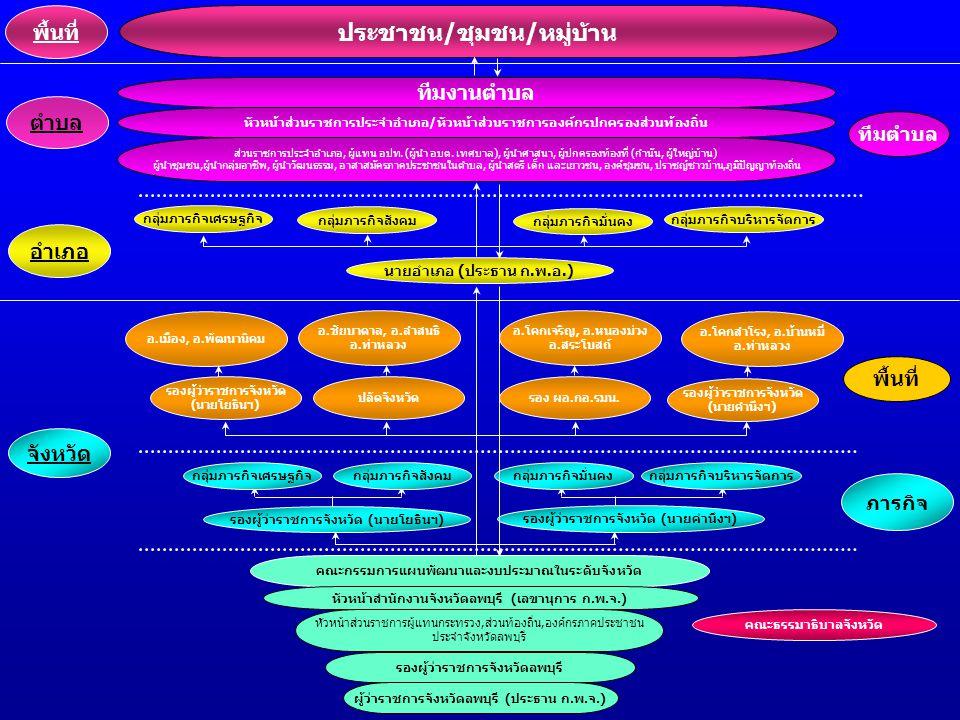 อ.เมือง, อ.พัฒนานิคม อ.ชัยบาดาล, อ.ลำสนธิ อ.ท่าหลวง อ.โคกเจริญ, อ.หนองม่วง อ.สระโบสถ์ อ.โคกสำโรง, อ.บ้านหมี่ อ.ท่าหลวง รองผู้ว่าราชการจังหวัด (นายโยธิ
