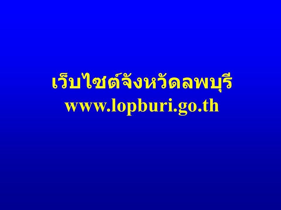 เว็บไซต์จังหวัดลพบุรี www.lopburi.go.th