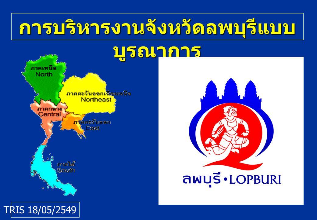 การบริหารงานจังหวัดลพบุรีแบบ บูรณาการ กพร.- TRIS 18/05/2549