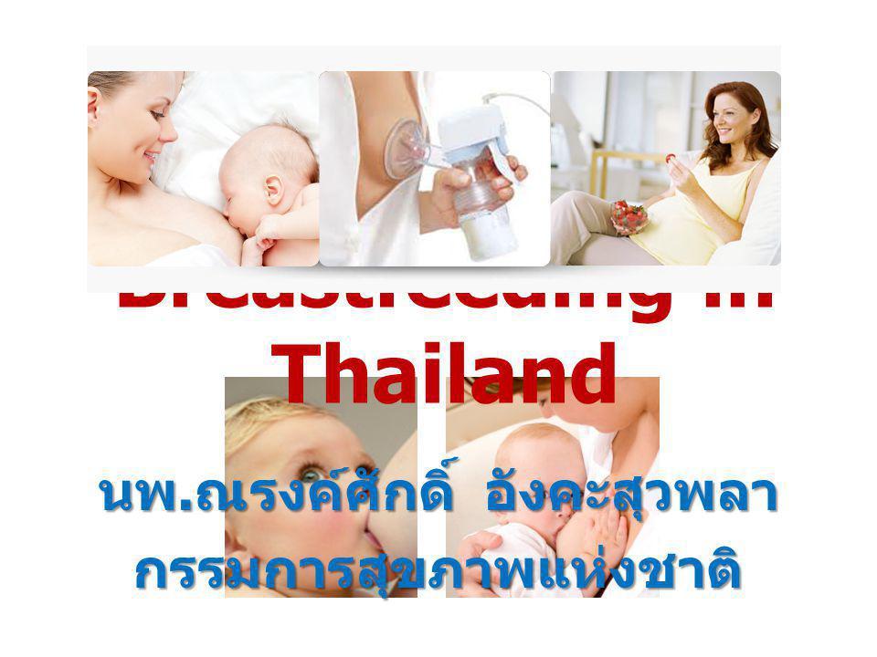 Breastfeeding in Thailand นพ. ณรงค์ศักดิ์ อังคะสุวพลา กรรมการสุขภาพแห่งชาติ