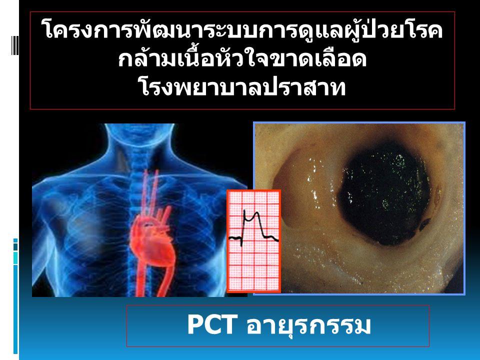 โครงการพัฒนาระบบการดูแลผู้ป่วยโรค กล้ามเนื้อหัวใจขาดเลือด โรงพยาบาลปราสาท PCT อายุรกรรม