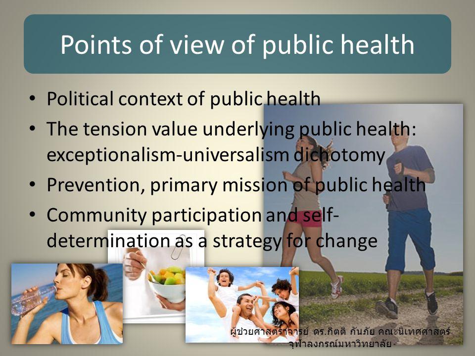 Political context of public health งานใคร .