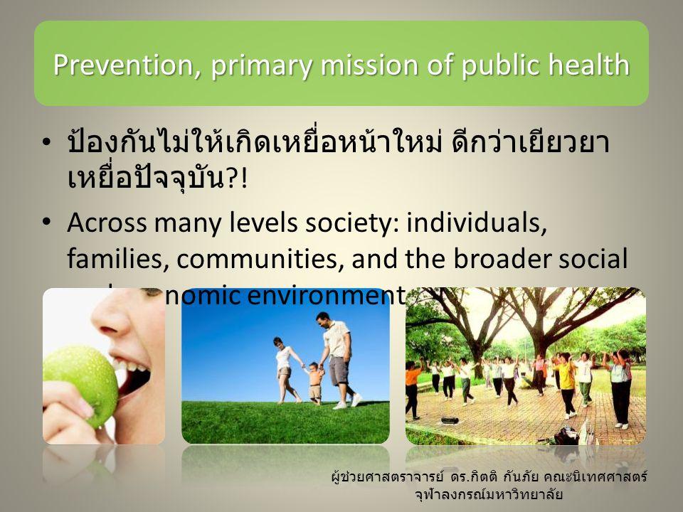 การสื่อสารสุขภาพคือ เครื่องมือสำคัญของ public health การสื่อสารสุขภาพแนว exeptionalism – ใช้เครื่องมือหลักคือ communication campaign การสื่อสารสุขภาพแนว universalistic – ใช้เครื่องมือหลักคือ media advocacy ผู้ช่วยศาสตราจารย์ ดร.