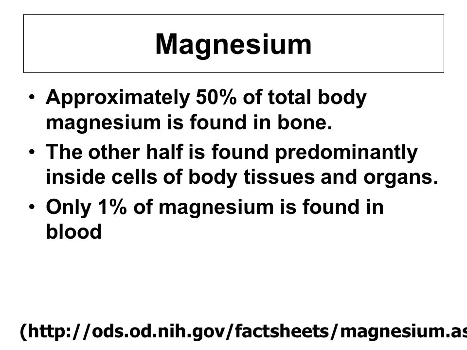 l Magnesium has positive charge l Magnesium has many necessary function in cells Co-factor in many basic cellular function especially in process of energy production l Magnesium is needed for more than 300 biochemical reactions in the body The function of Magnesium