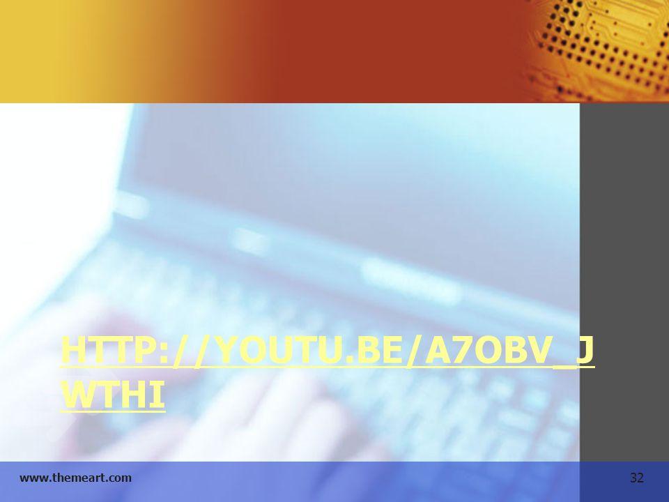 32 www.themeart.com HTTP://YOUTU.BE/A7OBV_J WTHI