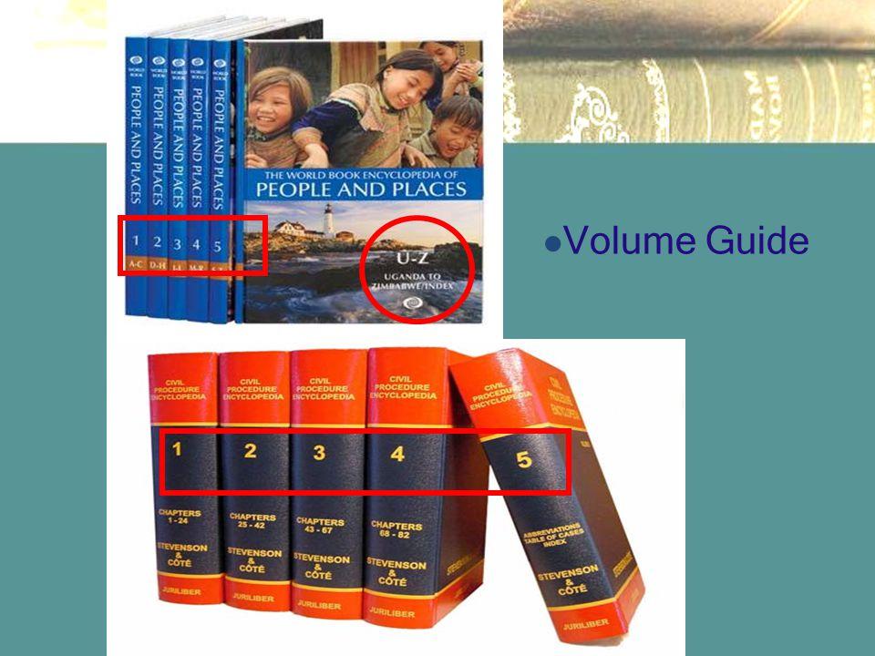 Volume Guide