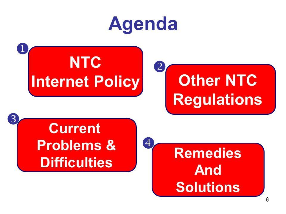 7 นโยบายการพัฒนาด้านอินเทอร์เน็ตของไทย แผนแม่บทกิจการ โทรคมนาคม -ส่งเสริมการประกอบ กิจการอินเทอร์เน็ตให้ แพร่หลาย… -กำกับดูแลการประกอบ กิจการให้เกิดการแข่งขัน อย่างเป็นธรรม เพื่อให้ ค่าบริการโทรคมนาคม สามารถแข่งขันได้ใน ระดับภูมิภาค Last mile access => เร็ว ทั่วถึง เท่าเทียม ISP => เร็ว พอเพียง มี คุณภาพ แข่งขันได้ Gateway/Backbone => เร็ว พอเพียง มี คุณภาพ ราคาแข่งขันได้  Content/ Application => มีสาระประโยชน์ด้าน เศรษฐกิจ สังคม การศึกษา สำหรับทุกกลุ่ม