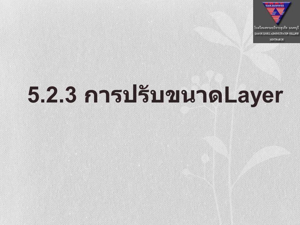 5.2.3 การปรับขนาด Layer