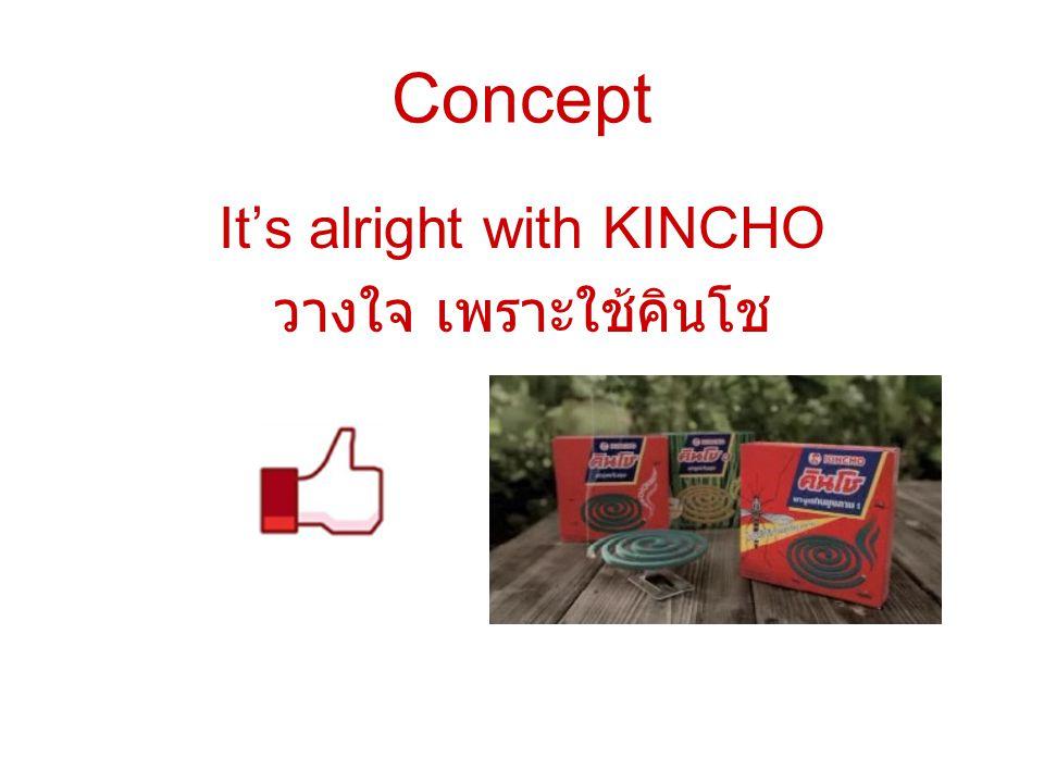 Concept It's alright with KINCHO วางใจ เพราะใช้คินโช