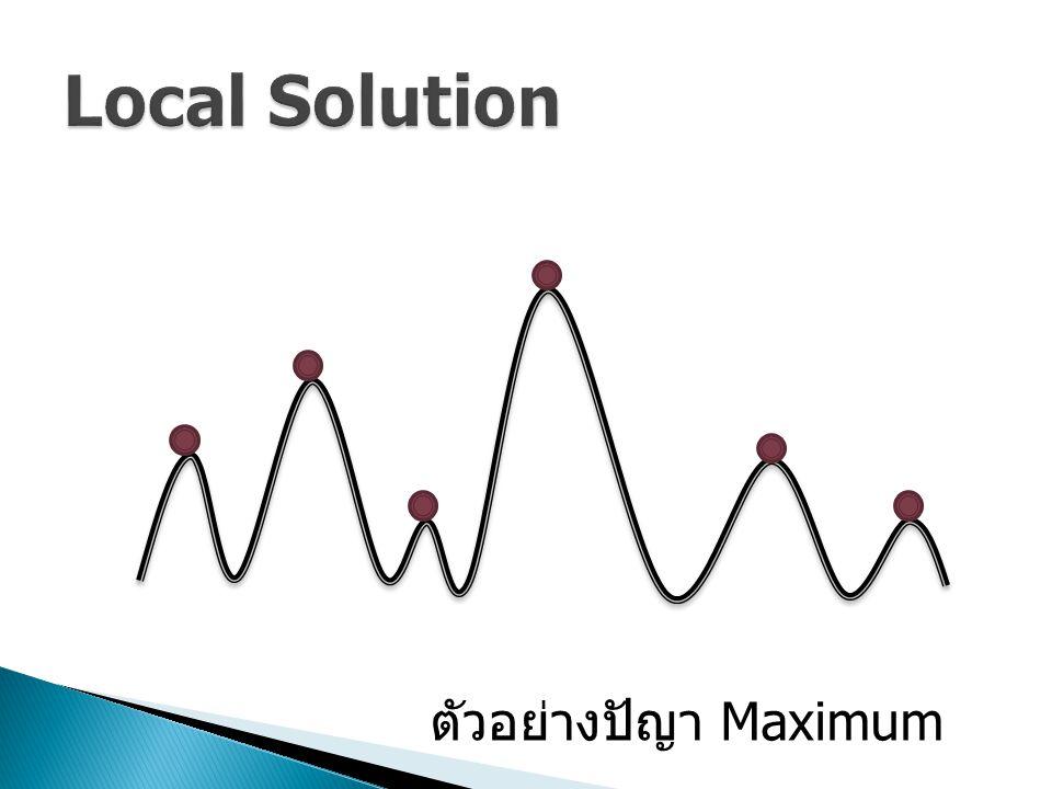 ตัวอย่างปัญา Maximum