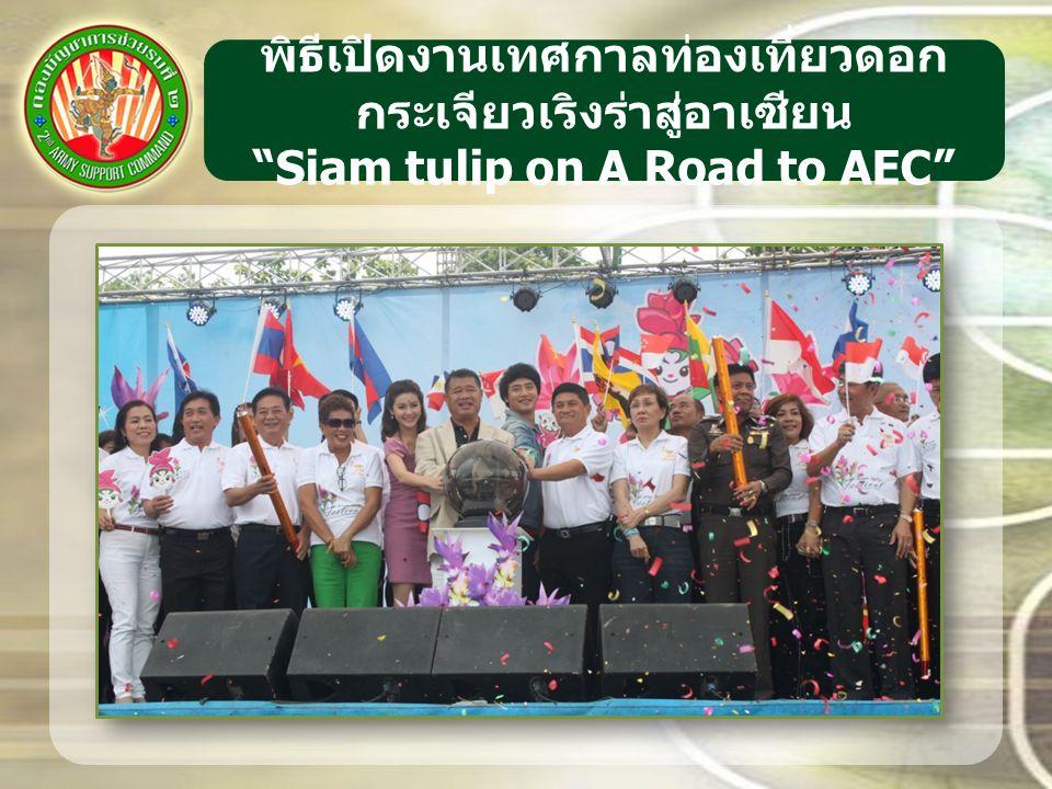 """พิธีเปิดงานเทศกาลท่องเที่ยวดอก กระเจียวเริงร่าสู่อาเซียน """"Siam tulip on A Road to AEC"""""""