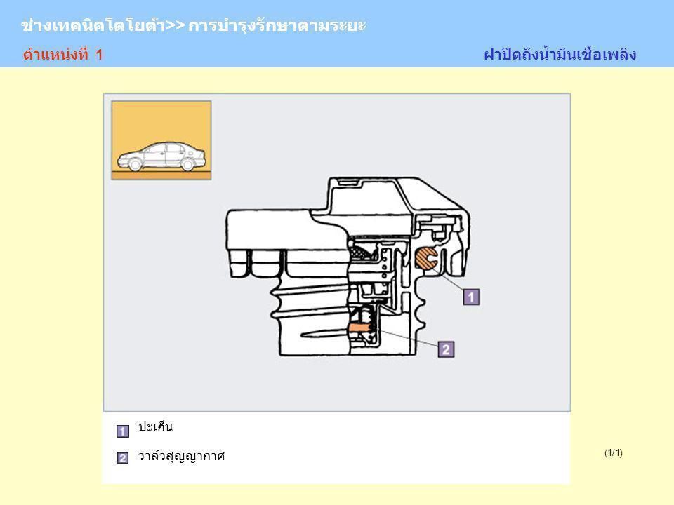 TOYOTA Technician >> Periodic Maintenance (1/1) ระบบรองรับ 1.