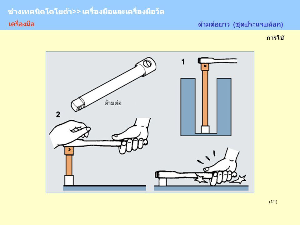 TOYOTA Technician >> Tool and Measurement (1/1) ด้ามต่อยาว (ชุดประแจบล็อก) ช่างเทคนิคโตโยต้า>> เครื่องมือและเครื่องมือวัด การใช้ เครื่องมือ