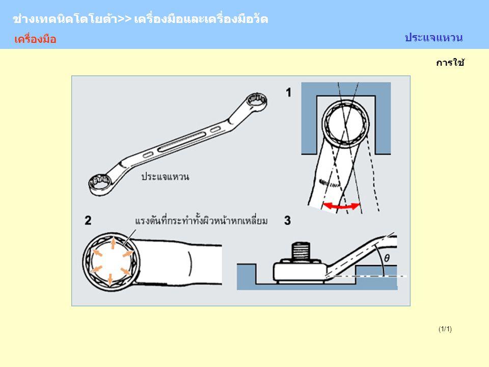 TOYOTA Technician >> Tool and Measurement (1/1) ประแจแหวน ช่างเทคนิคโตโยต้า>> เครื่องมือและเครื่องมือวัด การใช้ เครื่องมือ