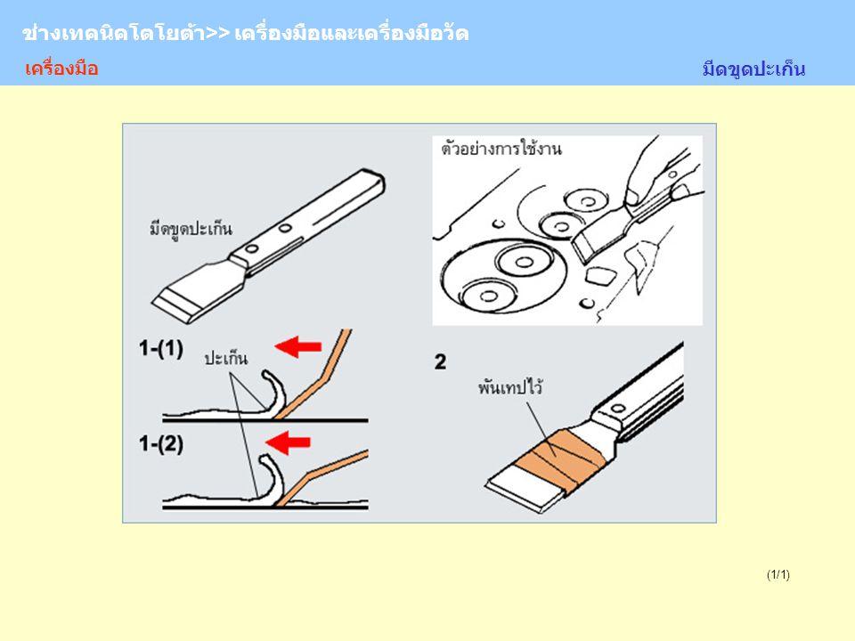 TOYOTA Technician >> Tool and Measurement (1/1) มีดขูดปะเก็น ช่างเทคนิคโตโยต้า>> เครื่องมือและเครื่องมือวัด เครื่องมือ