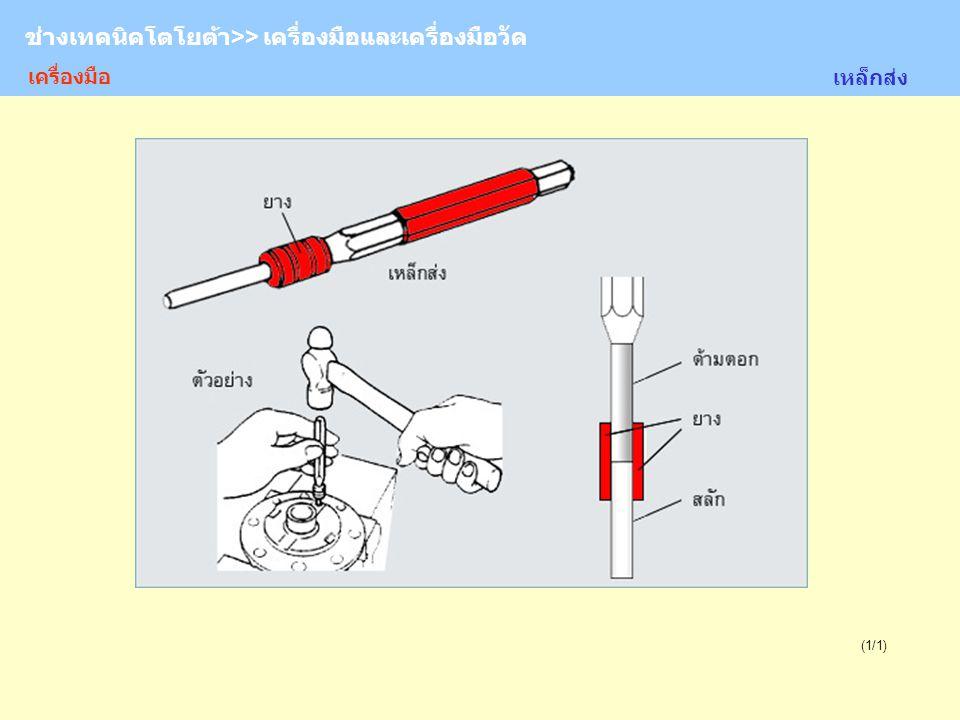 TOYOTA Technician >> Tool and Measurement (1/1) ช่างเทคนิคโตโยต้า>> เครื่องมือและเครื่องมือวัด เหล็กส่ง เครื่องมือ