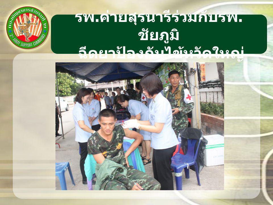 รพ. ค่ายสุรนารีร่วมกับรพ. ชัยภูมิ ฉีดยาป้องกันไข้หวัดใหญ่