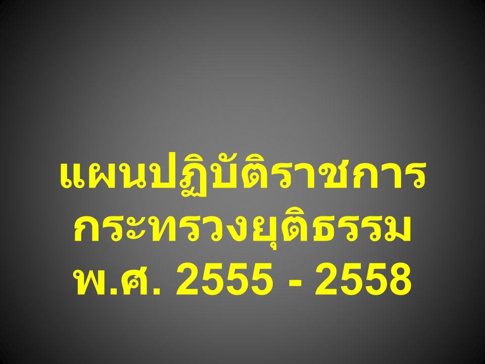 แผนปฏิบัติราชการ กระทรวงยุติธรรม พ. ศ. 2555 - 2558