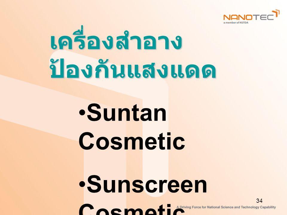 34 เครื่องสำอาง ป้องกันแสงแดด Suntan Cosmetic Sunscreen Cosmetic Aftersun Cosmetic