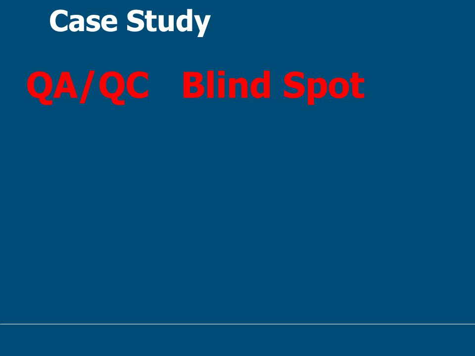 Case Study QA/QC Blind Spot