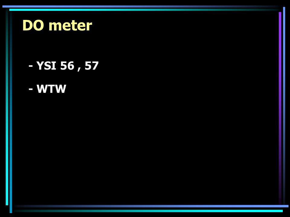 DO meter - YSI 56, 57 - WTW