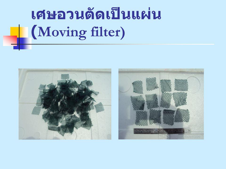 เศษอวนตัดเป็นแผ่น (Moving filter)