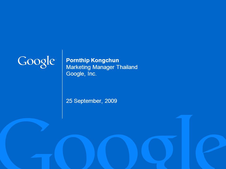 Google Confidential and Proprietary2
