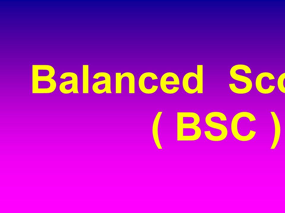 Balanced Scorecard ( BSC )