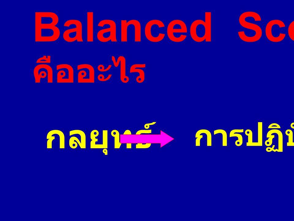 Balanced Scorecard คืออะไร กลยุทธ์ การปฏิบัติ